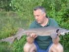 7lbs 4oz Sturgeon from Mas Bas - Angling Lines Holidays using Quest Baits Rahja Spice.