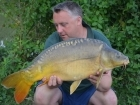 Kieron Axten 17lbs 11oz Mirror Carp from Mas Bas - Angling Lines Holidays using Quest Baits Rahja Spice.