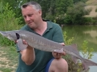7lbs 0oz Sturgeon from Mas Bas - Angling Lines Holidays using Quest Baits Rahja Spice.