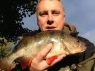 Kieron Axten 2lbs 2oz Perch from Staffs And Worcester Canal using Savage Gear Fire Tiger.. Personal best perch