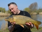 Kieron Axten 8lbs 11oz Common Carp from Burnham-on-sea Holiday Village using Mainline Grange CSL.