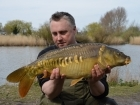 Kieron Axten 11lbs 7oz Mirror Carp from Burnham-on-sea Holiday Village using Mainline Grange CSL.
