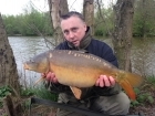 12lbs 0oz Mirror Carp from Cudmore Fisheries using Solar Club Mix (Squid & Octopus, Stimulin and Anchovy).