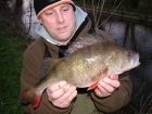 Kieron Axten 2lbs 11oz Perch from Staffs And Worcester Canal using Savage Gear.