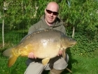 25lbs 10oz Mirror Carp from Golden Oak Lake - Angling Lines Holidays using Quest Bait  Ghurkka Spice Flouro Pop Up.. Caught fishing tigh to far margin snags at 75 yards.