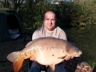 28lbs 1oz Mirror Carp from Rookley Country Park