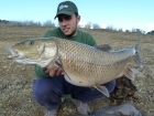 Juandita Punales Sanchez 21lbs 1oz comizo. comizo fishing guide in Spain. www.barbelextremadura.com facebook: barbel extremadura