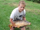 19lbs 5oz Mirror Carp from Norman's Pools. Personal best taken under the overhang bush.
