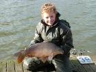 Daniel Smith 12lbs 0oz Mirror Carp from Drayton Reservoir using Richworth Tutti Frutti.