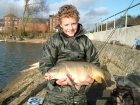 Daniel Smith 13lbs 0oz Mirror Carp from Drayton Reservoir using Richworth Tutti Frutti.