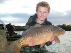 Daniel Smith 14lbs 4oz Mirror Carp from Drayton Reservoir using Mainline Milky Toffee Pop Up.