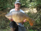 Mick Sumner 24lbs 0oz Carp from Sutton Park. Floater caught, 8lb Berkley hooklink, 10lb XL mainline,