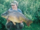 Mick Sumner 25lbs 0oz Carp from Stowe Pool. Surface Caught, size 8 Drennan Super Specialist