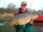 Mick Sumner 18lbs 0oz Mirror Carp from Drayton Reservoir using Solar dairy cream.. Single pop-up