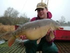 Mick Sumner 17lbs 0oz Mirror Carp from Drayton Reservoir using Solar dairy cream.. Single pop-up