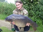 Ashley Morris 28lbs 0oz Mirror Carp from Ashmire using Tails up.