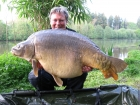 Keith Williams 58lbs 10oz Mirror Carp from Mirror Pool Fisheries using mainline.. New personal best