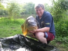 Keith Williams 54lbs 6oz Mirror Carp from Mirror Pool Fisheries using mainline.. new grange