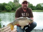 Jerry Adams 12lbs 0oz Mirror Carp from Howle Pool using Solar Club Mix (Squid & Octopus, Stimulin and Anchovy).. Had about a dozen carp today, this was one of the better ones.