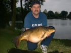 Jerry Adams 21lbs 2oz Mirror Carp from Local Club Water using Solar Club Mix (Squid & Octopus, Stimulin and Anchovy).