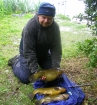 5lbs 3oz Tench from Tontine Lake. Three tench caught in total - all three on a method feeder fished adjacent to stakes - other fished weighed 5lb dead and 3lb 13oz