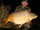 Robin Martin Parrish 36lbs 0oz Mirror Carp from Les Burons Carp Fishing. john caught a 36 lb mirror feb 2010