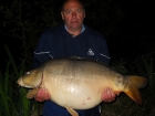 Robin Martin Parrish 45lbs 5oz Mirror Carp from Les Burons Carp Fishing. phil jackson caught on maple 8 main line (lake record)