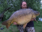 Essex Carp Baits 36lbs 14oz Mirror Carp from Cleverly Mere using Essex Carp Baits Pineapple Perils.