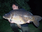 Essex Carp Baits 41lbs 10oz Mirror Carp from Cleverly Mere using Essex Carp Baits Pineapple Perils.