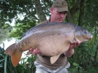 31lbs 5oz Mirror Carp from Rookley Country Park using carp company ice red.