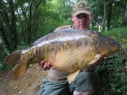 30lbs 0oz Mirror Carp from Rookley Country Park using cork ball.. off the top