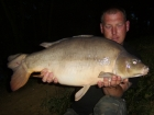 22lbs 0oz Leather Carp from Rookley Country Park using carp company ice red.