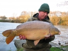 John Morley 25lbs 4oz Mirror Carp from Rookley Country Park using carp company.. winter
