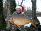 36lbs 0oz Mirror Carp from Sweet Chestnut Lake using SuperU Bien Vu.. Caught on the shortest day of the year with waggler and float in 12ft deep corner of lake.
