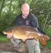 Royston Butwell 28lbs 6oz Common Carp from Great Linford Lakes. scales where about 2lb out on this session,,went faulty on me so probably weighed a bit more.