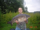 James Cracknell 19lbs 8oz Common Carp from Local Club Water using 20mm premier baits.