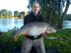James Cracknell 17lbs 7oz mirror carp from local club water using baitcraft t1.
