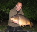 J.s.newson 28lbs 4oz Mirror Carp from Aveley Lakes using Essex Carp Baits.