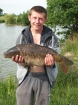 14lbs 1oz Mirror Carp from blake hall fishery. luncheon meat