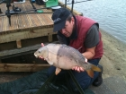 Richard Costello 14lbs 5oz Mirror Carp from Drayton Reservoir using Dynamite Banana and Nut Crunch Pop Up.