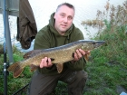 6lbs 1oz Pike from Castlefields. Tim lost a bigger one - I was gutted but Tim said it was still the best day ever because we caught!