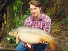 Kieron Axten 30lbs 2oz Mirror Carp from Cuttle Mill Carp Fishery using Paul Walker Monster Crab.. From peg 1 - fishing near the pads. The strangest bite I have ever head - it was a slow intermitent
