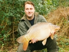 Kieron Axten 19lbs 4oz Mirror Carp from Cuttle Mill Carp Fishery using Nutrabaits Big Fish Mix with Black Pepper and Caviar.. Peg 1 - 1/2 way to pot 1