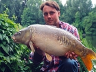 Kieron Axten 23lbs 3oz Mirror Carp from Cuttle Mill Carp Fishery using Mainline Grange CSL.. Neville's Swim