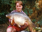 Kieron Axten 27lbs 4oz Mirror Carp from Cuttle Mill Carp Fishery using Paul Walker Monster Crab.. Peg 1