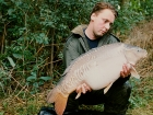 27lbs 4oz Mirror Carp from Cuttle Mill Carp Fishery using Mainline Grange Csl.. Peg 1 - The Angling Times Fish