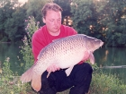 Kieron Axten 22lbs 11oz Common Carp from Cuttle Mill Carp Fishery using Nutrabaits Big Fish Mix with Black Pepper and Caviar.