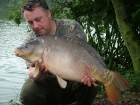 Kieron Axten 22lbs 13oz Mirror Carp from Rookley Country Park using Carp Company Icelandic Red Cranberry & Caviar.