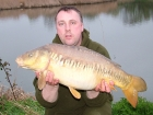 18lbs 0oz Linear Carp from Burnham-on-sea Holiday Village using Mainline Grange CSL.