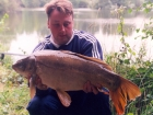 17lbs 2oz Mirror Carp from Woodland Waters using Nutrabaits Big Fish Mix with Black Pepper and Caviar.